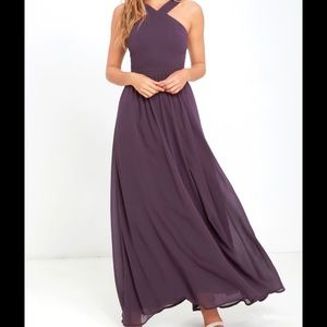 NWT Air of Romance Dusty Purple Lulu Maxi Dress